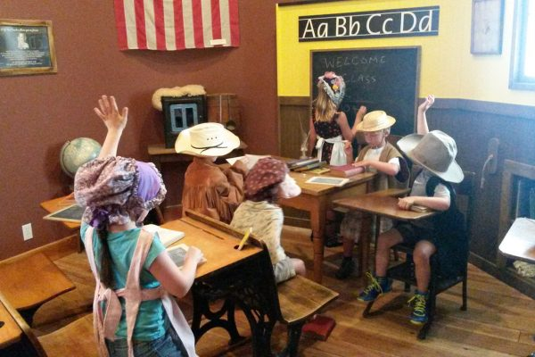 Schoolhouse for the kids to play in - Northwest Carriage Museum